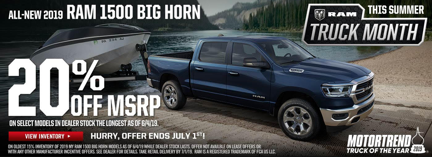 2019 RAM 1500 Big Horn 20 off