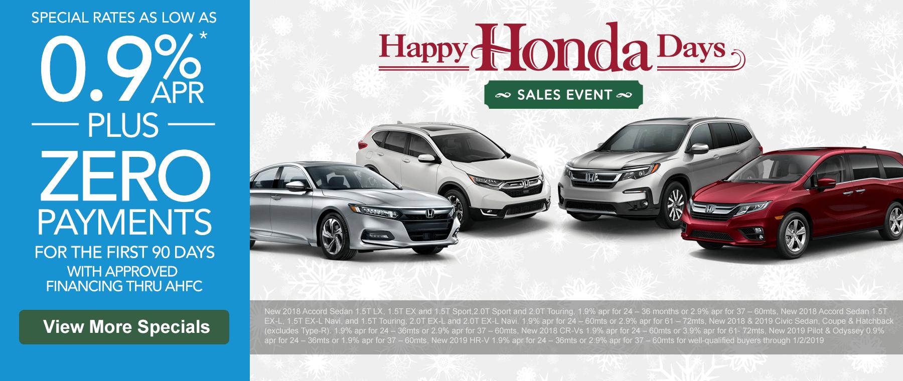 Happy Honda Days Specials