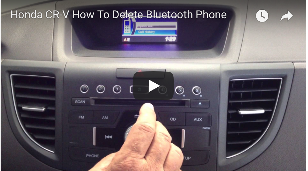 2013 Honda CR-V - How To Delete Paired Phone