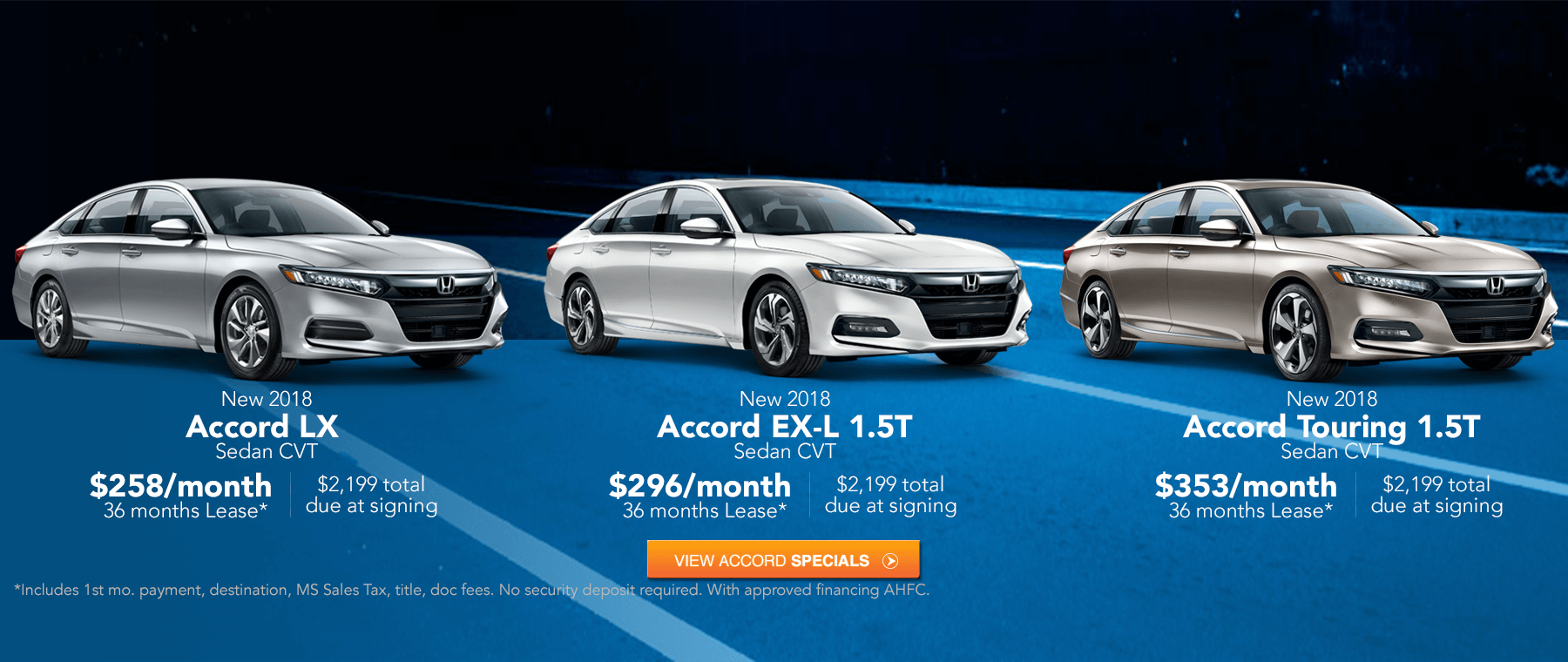 Great 2018 Accord Lease Specials