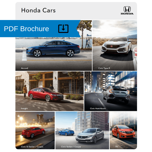 2019 Honda Car Brochure cover