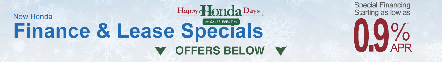 New Honda Special Finance and Lease offers banner