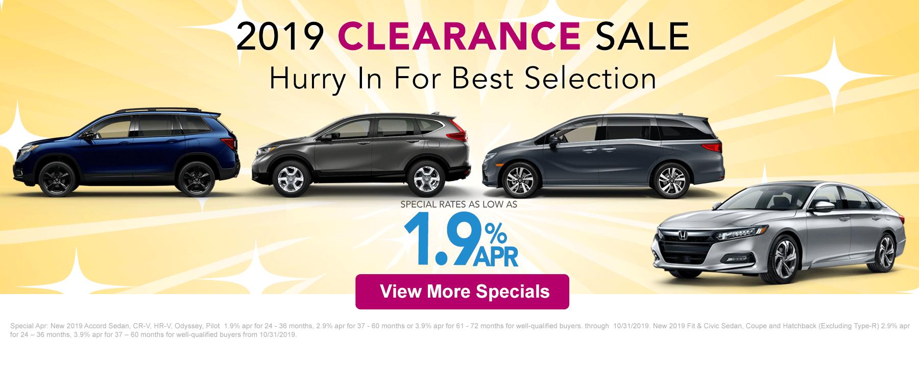 Honda Clearance Sale