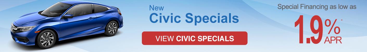 Honda Civic Coupe VRP specials