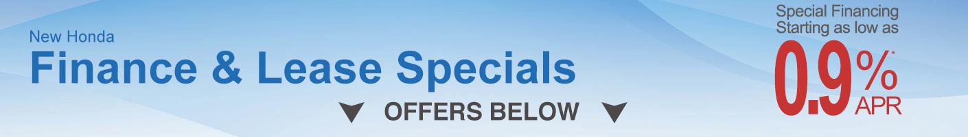 Honda Finance & Lease specials Jan Banner