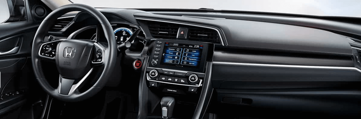 2019 Honda Civic Dashboard in Black