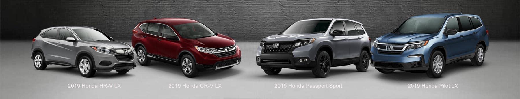 Honda SUV Comparison 2019