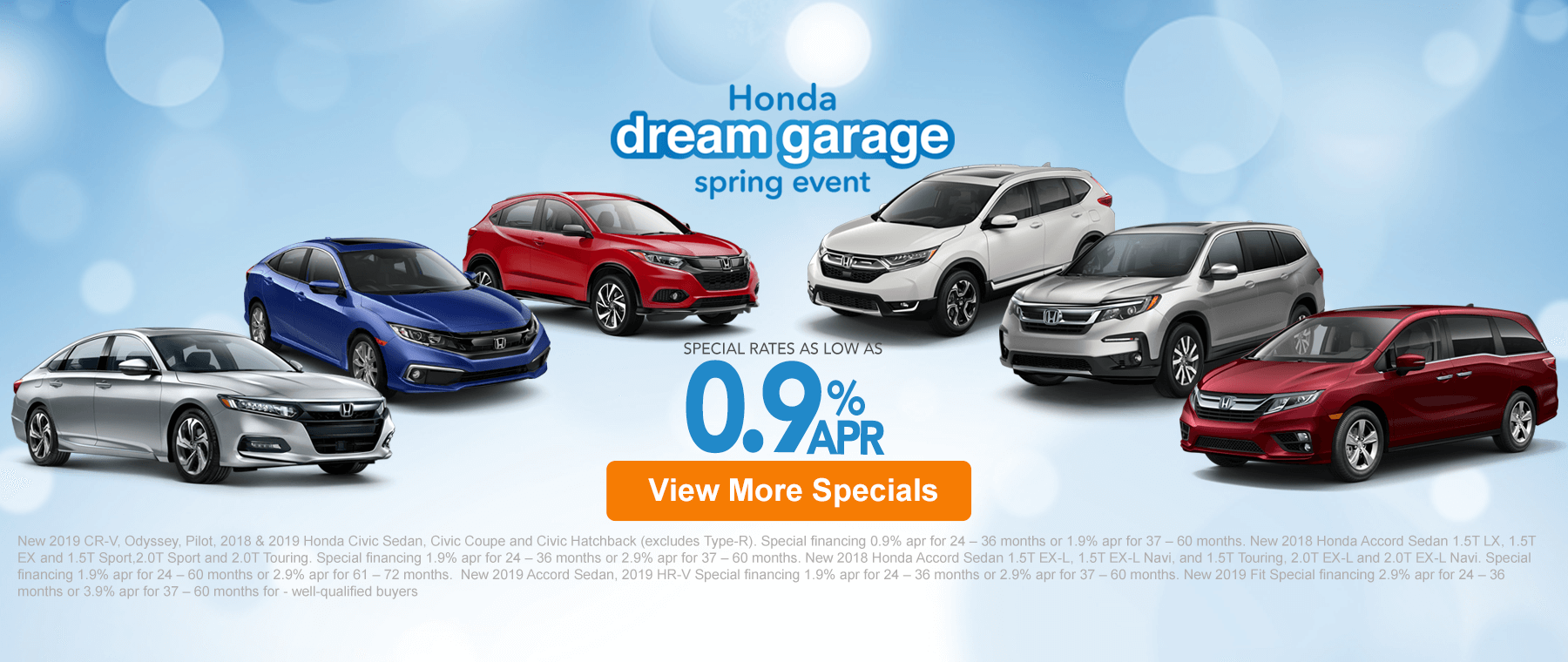 March 15th Honda Specials