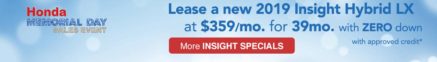 Honda Insight VRP specials