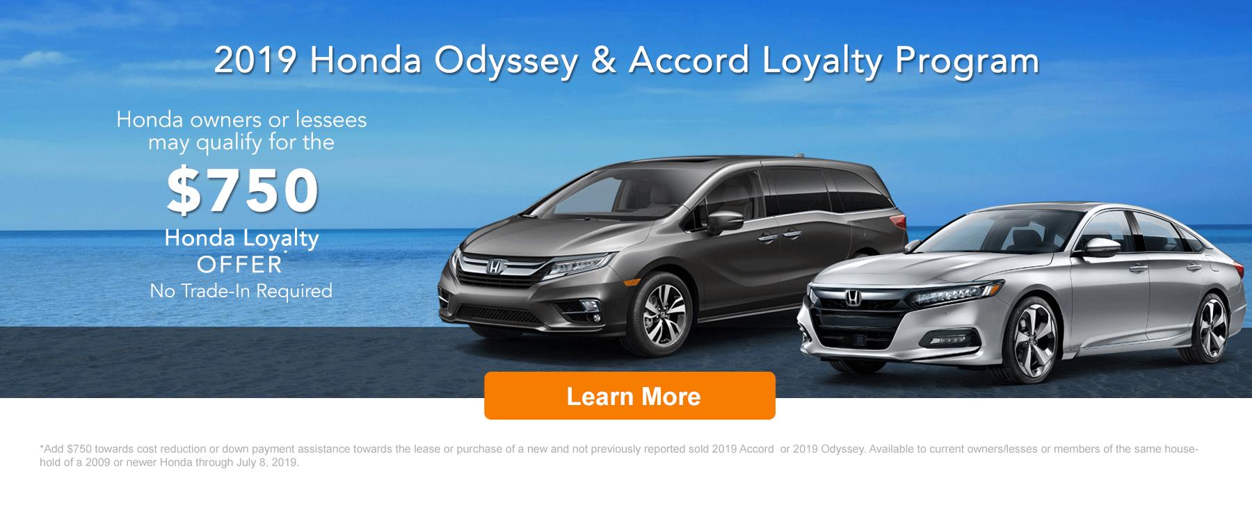 Honda Accord Odyssey Loyalty Program DI Banner