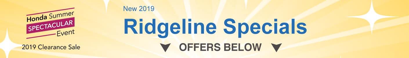 Honda Ridgeline Clearance banner