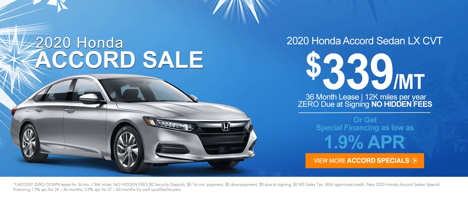 Honda Accord Sale January