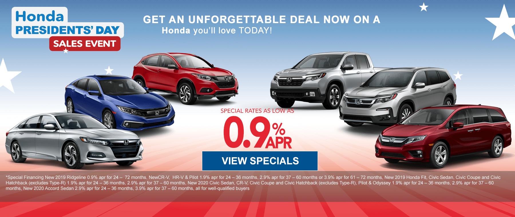 Honda Presidents Day Sale