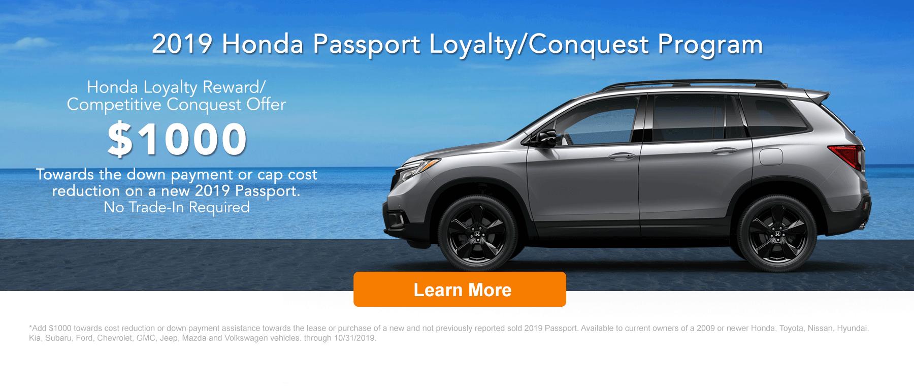 Honda Loyalty Banner 2019 Passport