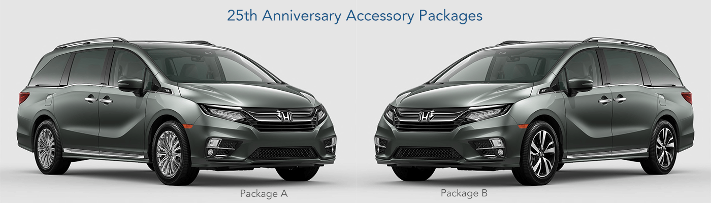 2020 Honda Odyssey 25th Anniversary Accessory packages