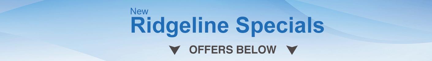 Honda Ridgeline Specials banner