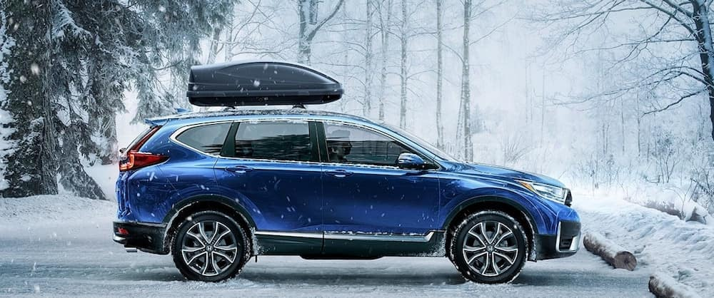 A 2020 Honda CR-V with AWD in the snow