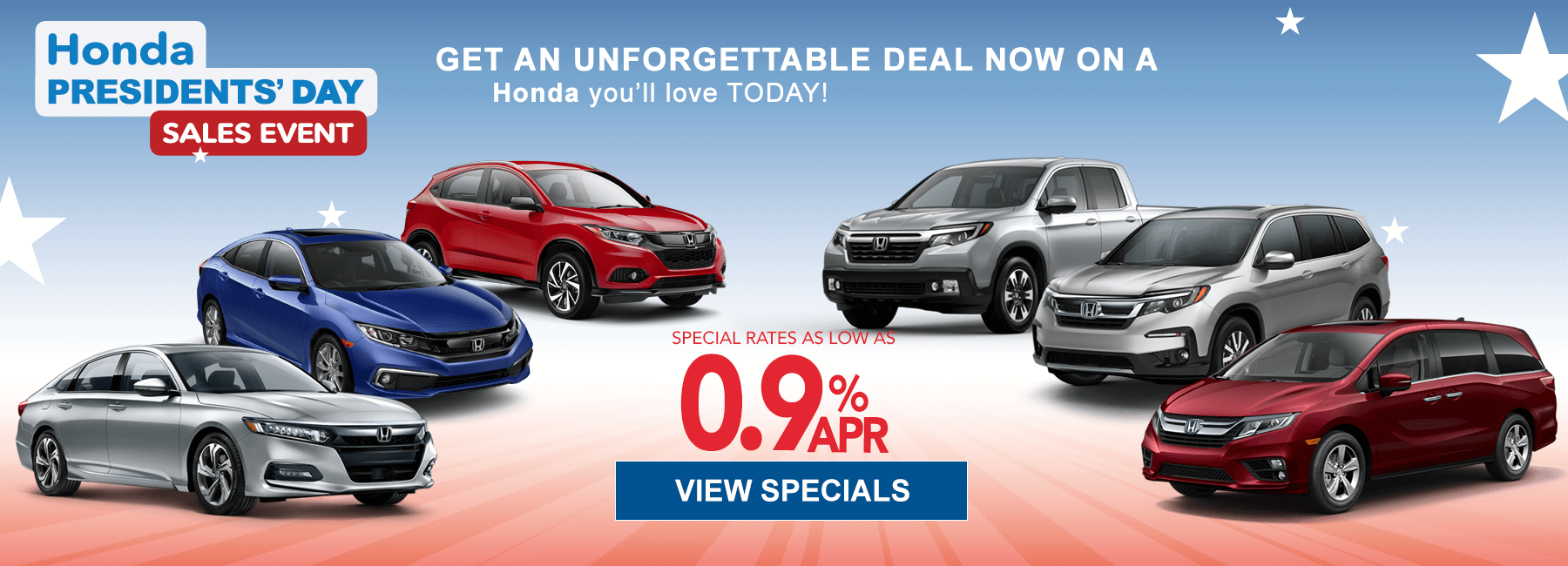 Honda Presidents Day sale img