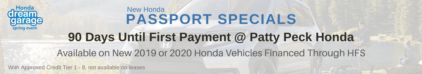Honda Passport sale Banner