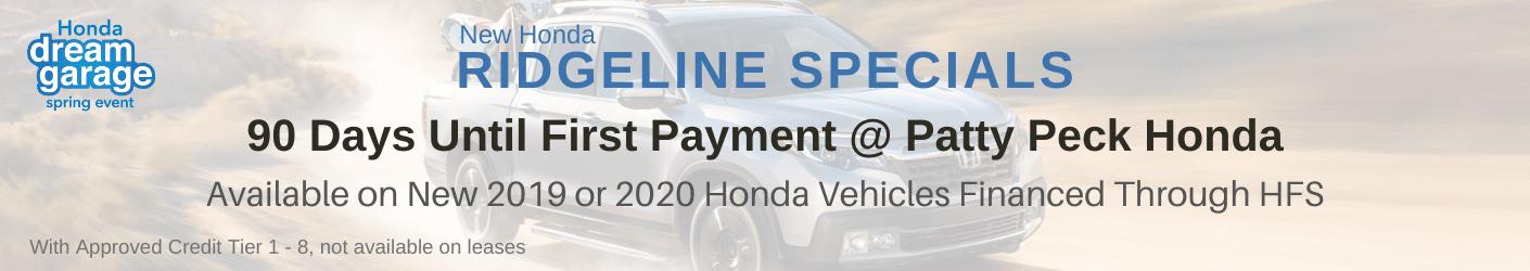 Honda Ridgeline Sale banner