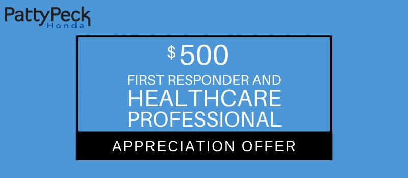 Honda 1st Responder/Healthcare Appreciation Offer