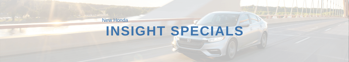 Honda Insight Specials Banner