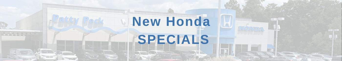 New Honda Specials Banner