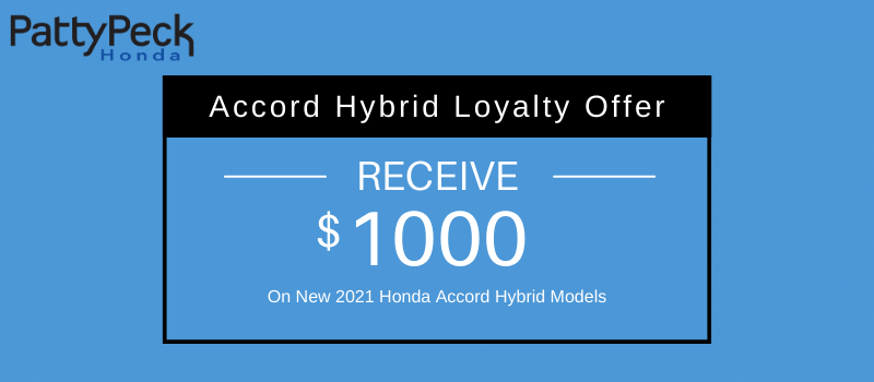 2021 Accord Hybrid Loyalty Offer