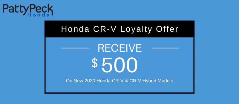 2020 CR-V & CR-V Hybrid Honda Loyalty Offer
