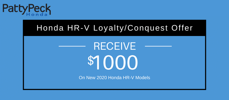 2020 HR-V Honda Loyalty/Conquest Offer