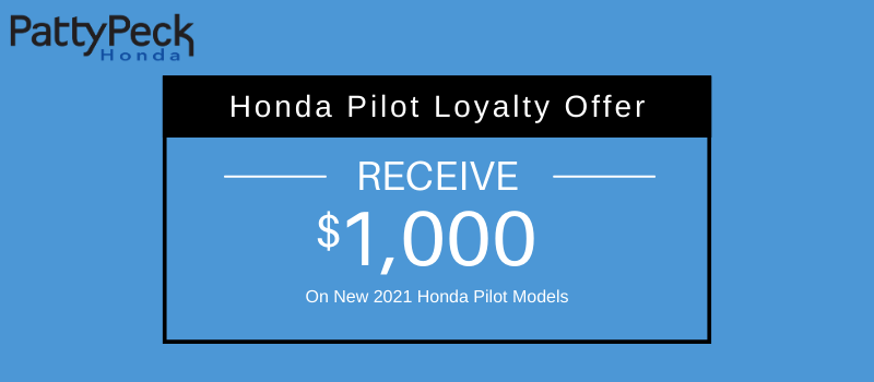 2021 Pilot Honda Loyalty Offer