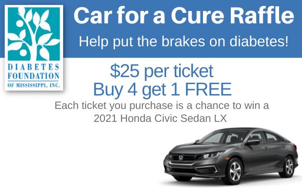Diabetes Car for a Cure raffle