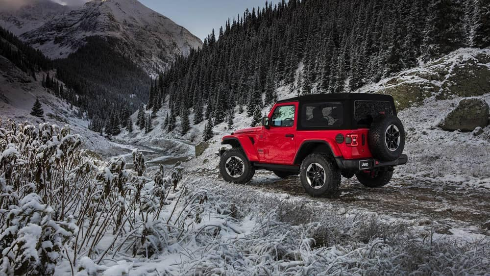 2018 Jeep Wrangler in snow