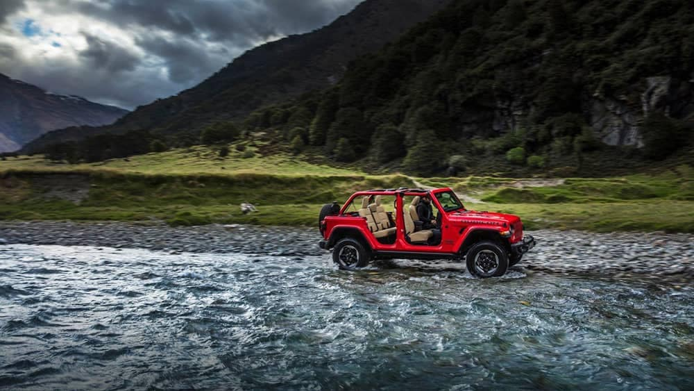 2018 Jeep Wrangler in water
