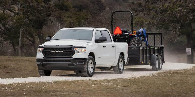 2019 RAM 1500 Tradesman towing tractor