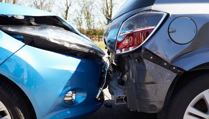 Damaged Vehicles After Accident