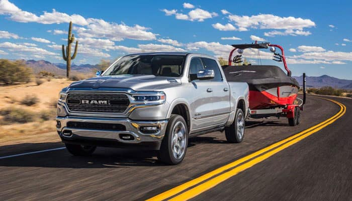 2019 RAM 1500 Towing Speed Boat