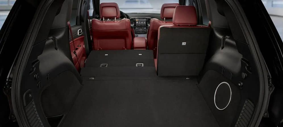 Rear interior view of the 2019 Jeep Grand Cherokee