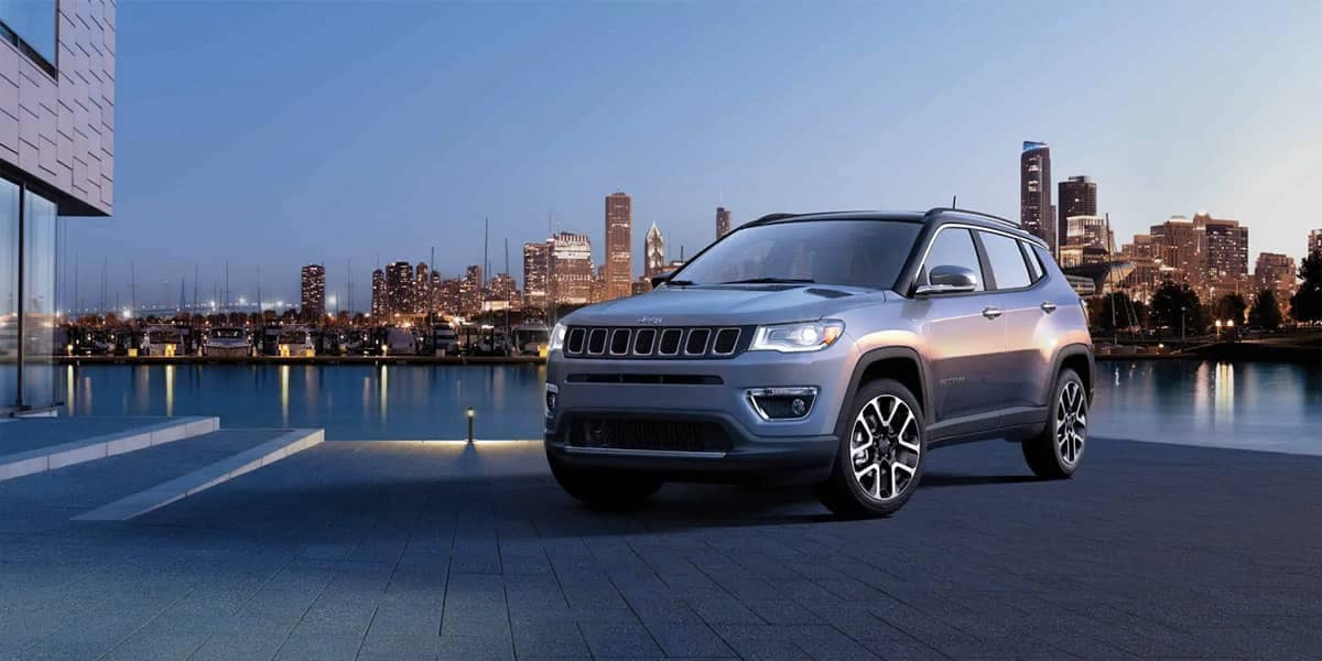 2019 Jeep Compass In Front Of Skyline