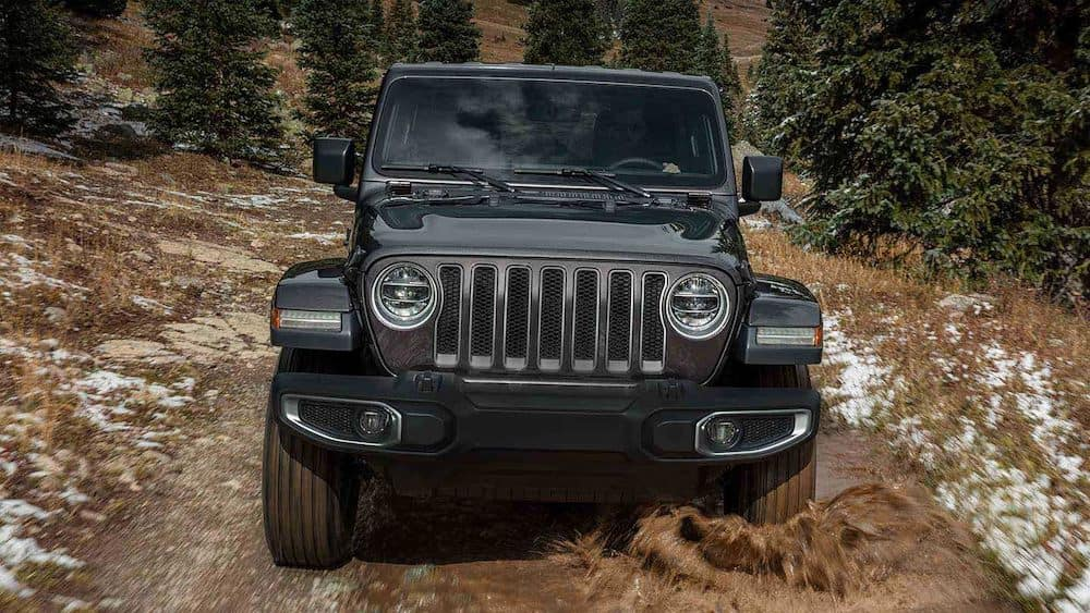 2019 Jeep Wrangler in the mud
