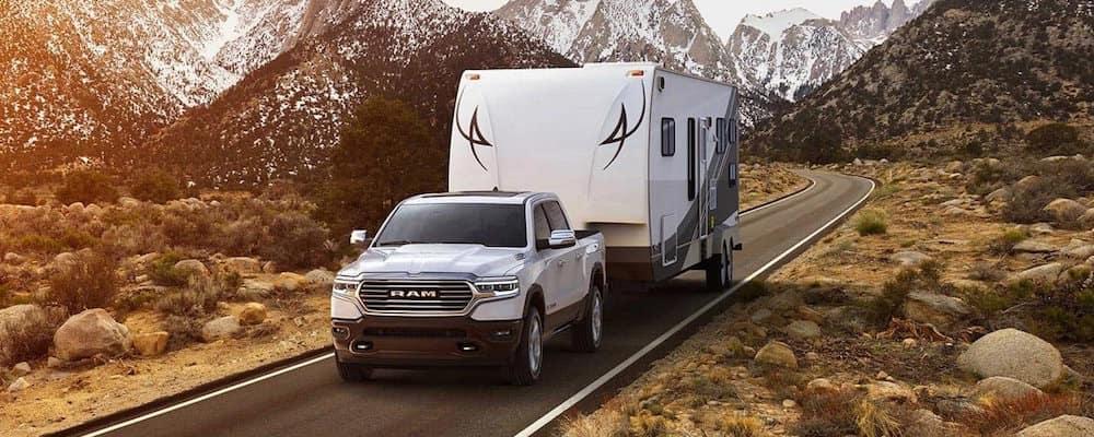 2019 RAM 1500 towing camper trailer