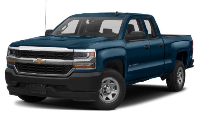 Blue Chevy Silverado 1500
