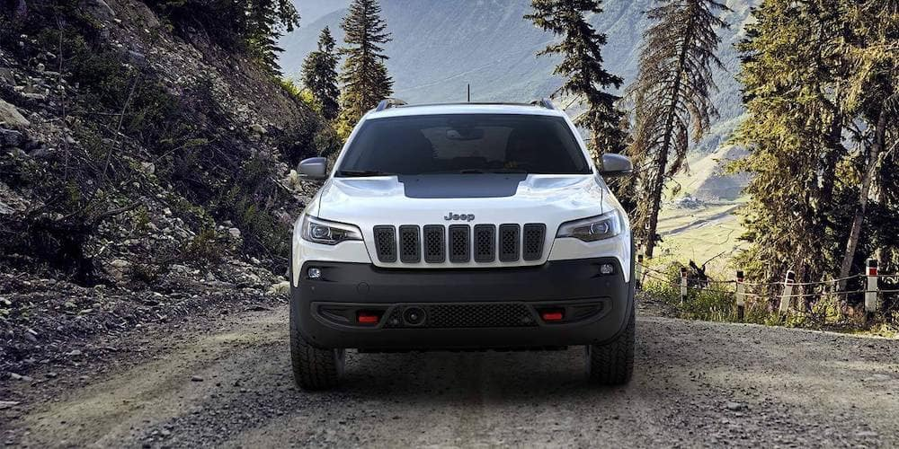 2019 Jeep Cherokee on a dirt road