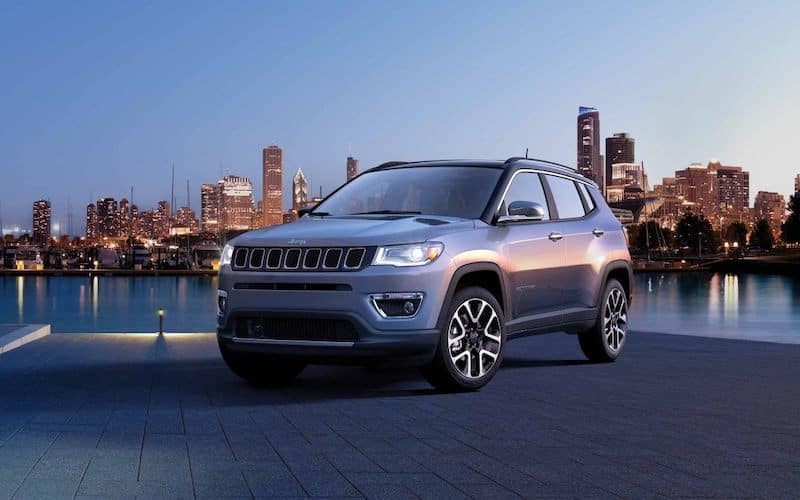 2019 Jeep Compass at night