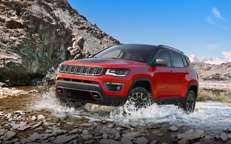 2019 Jeep Compass driving in water