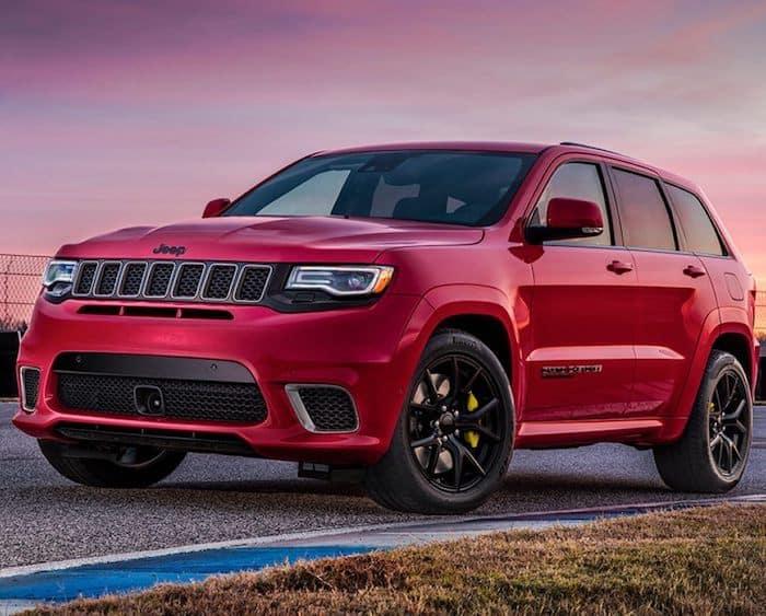 Red 2019 Grand Cherokee Trackhawk