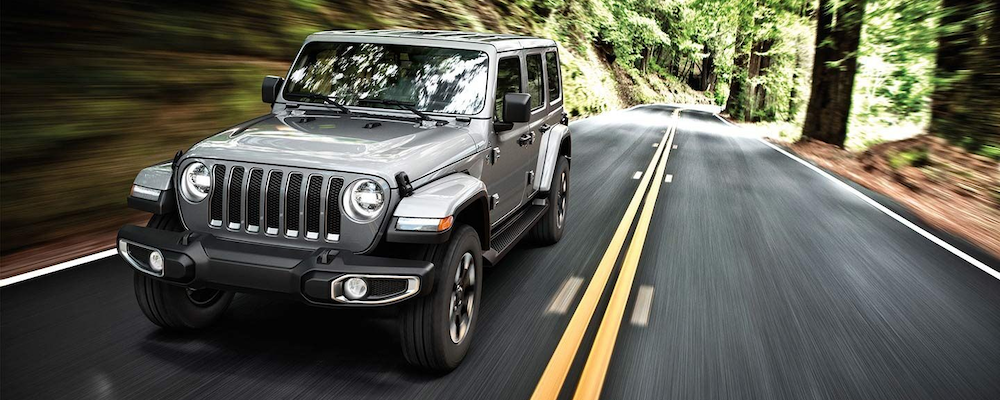 2019 Jeep Wrangler on the road