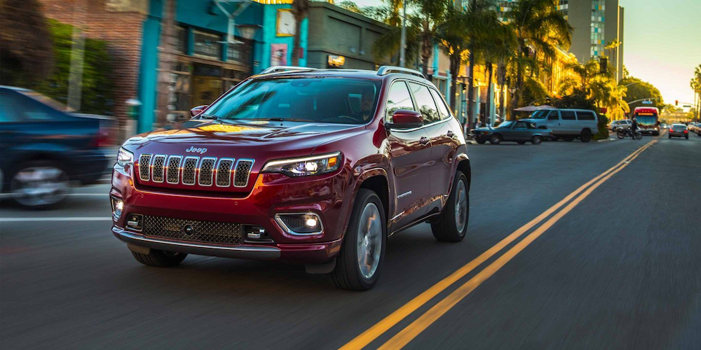 2019 Cherokee on a city street