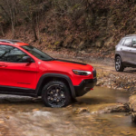 2019 Jeep Cherokee off-roading