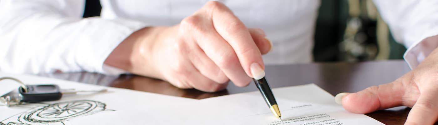Auto loan paperwork